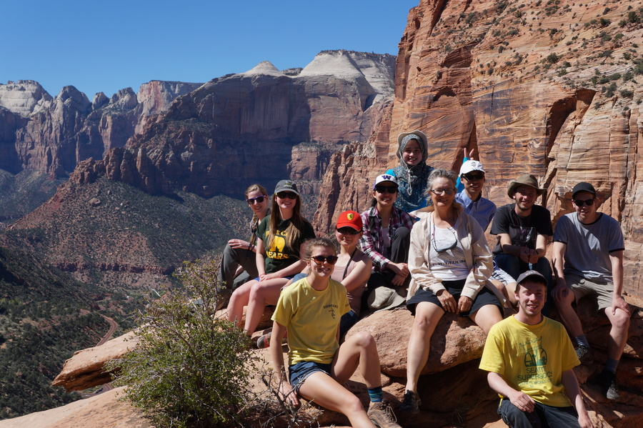 ESS Students in Utah with Prof. Bourgeois