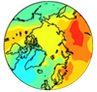 Heat map of globe