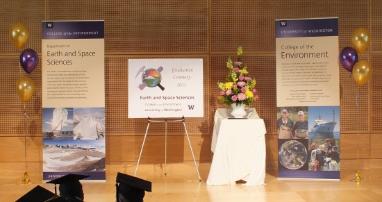 UW ESS Graduation 2015 stage photo
